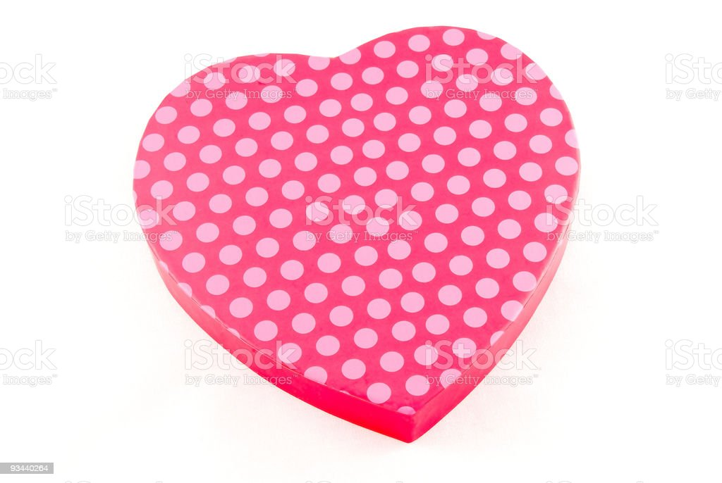 Polka Dot Valentine stock photo