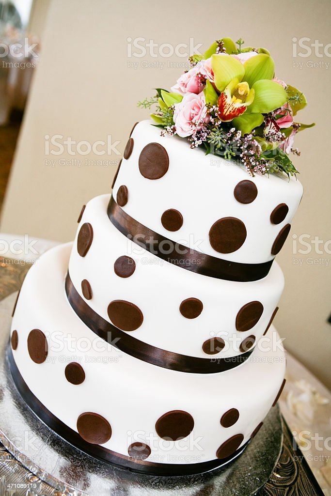 Polka Dot Wedding Cake royalty-free stock photo
