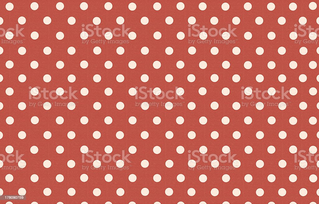 polka dot with red pastel color background royalty-free stock photo