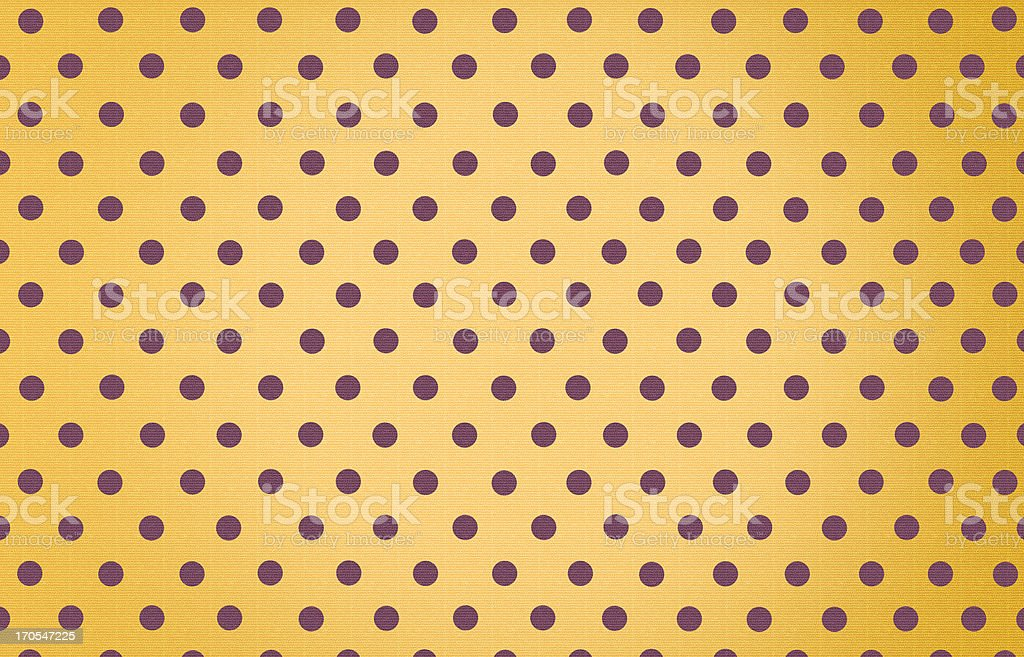 polka dot with yellow pastel color background royalty-free stock photo