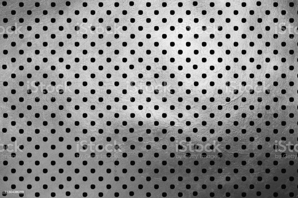 Polka Dots On Shinning Silver Luxury Creative Digital