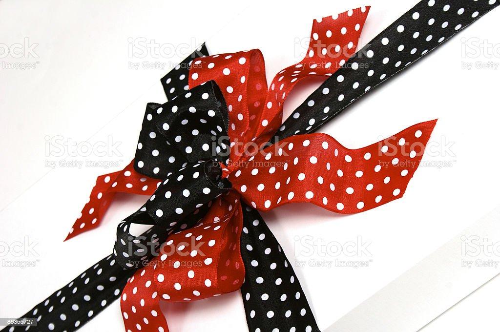 Polka-Dotted Ribbon royalty free stockfoto