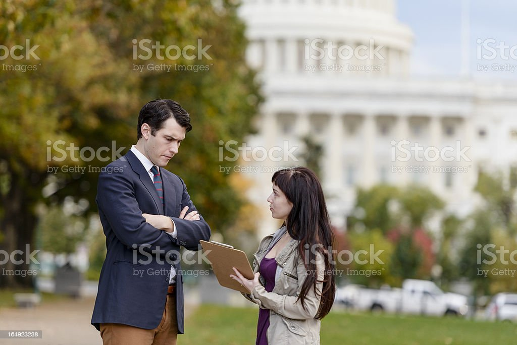 Poll Taker/Political Canvasser royalty-free stock photo