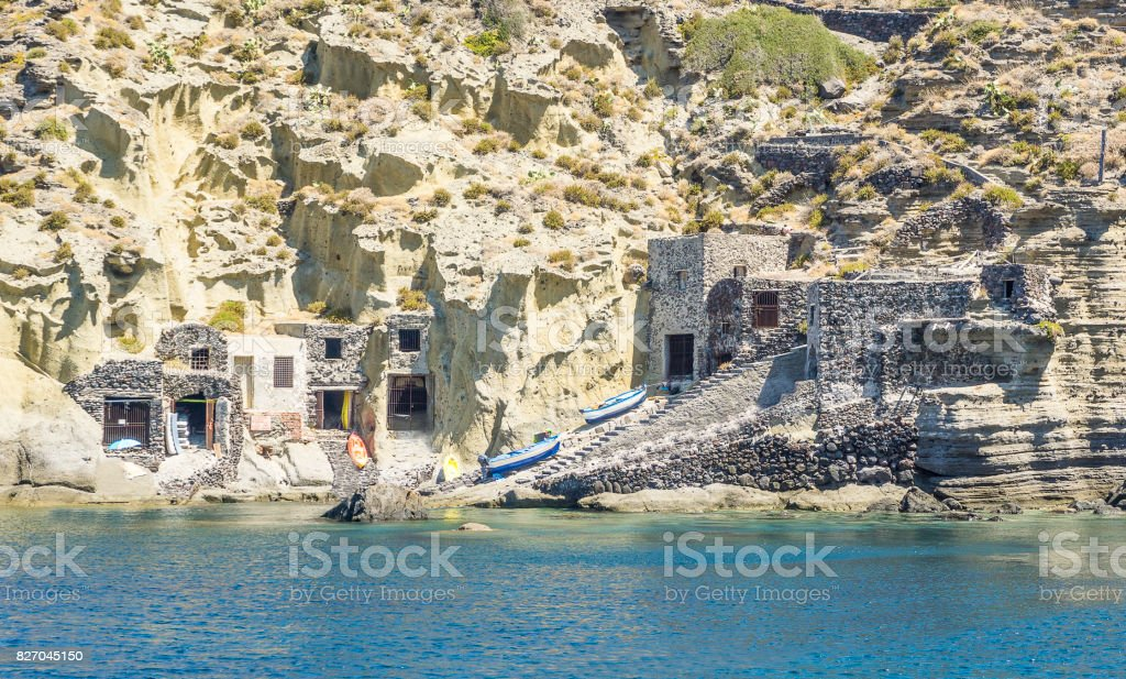 Pollara Beach, Salina, Aeolian Islands stock photo