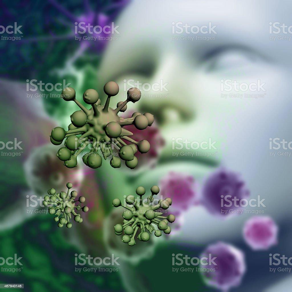 Pollen allergy concept stock photo