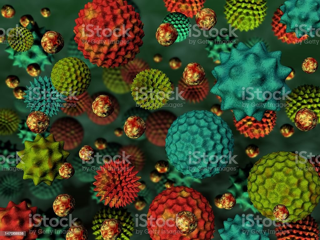 Pollen background royalty-free stock photo