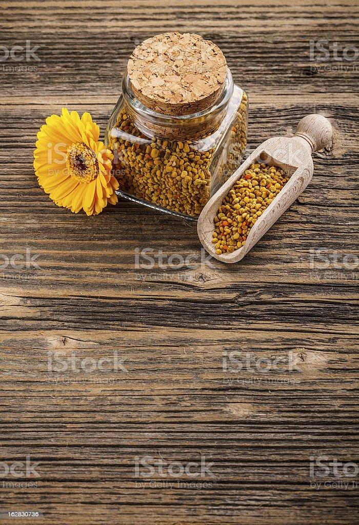 Pollen granules royalty-free stock photo