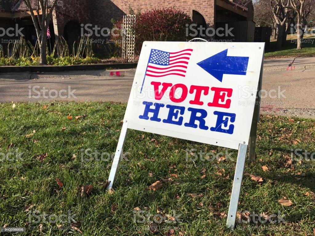 Polling-Ort für die Abstimmung in Vereinigten Staaten – Foto