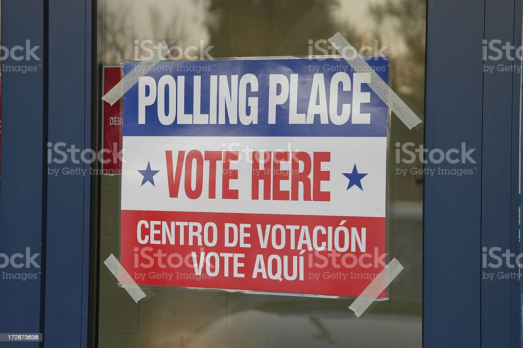 Polling Place on Voting Day stock photo