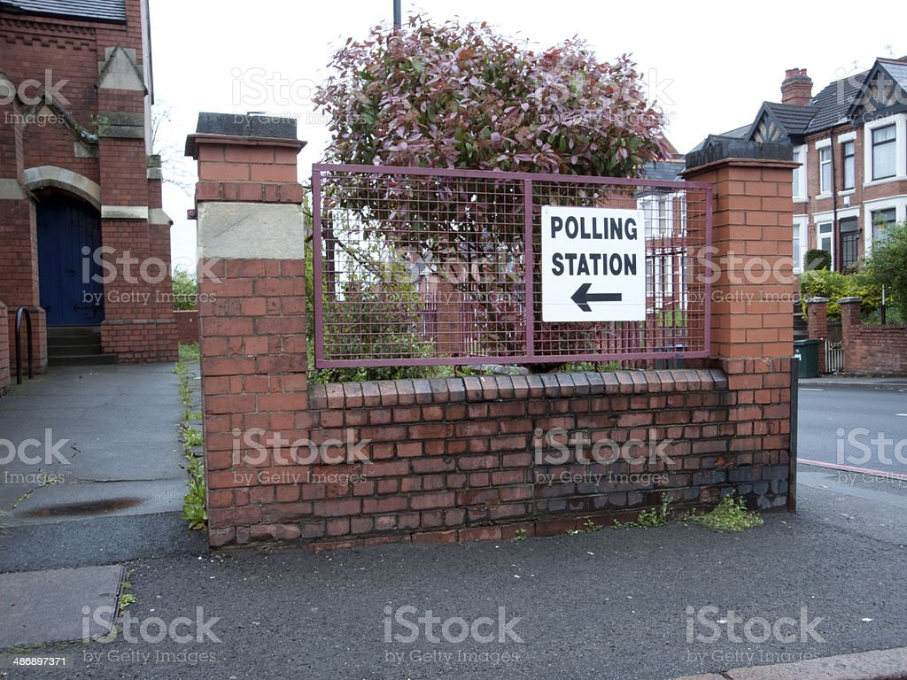 Polling Station, Coventry, UK stock photo