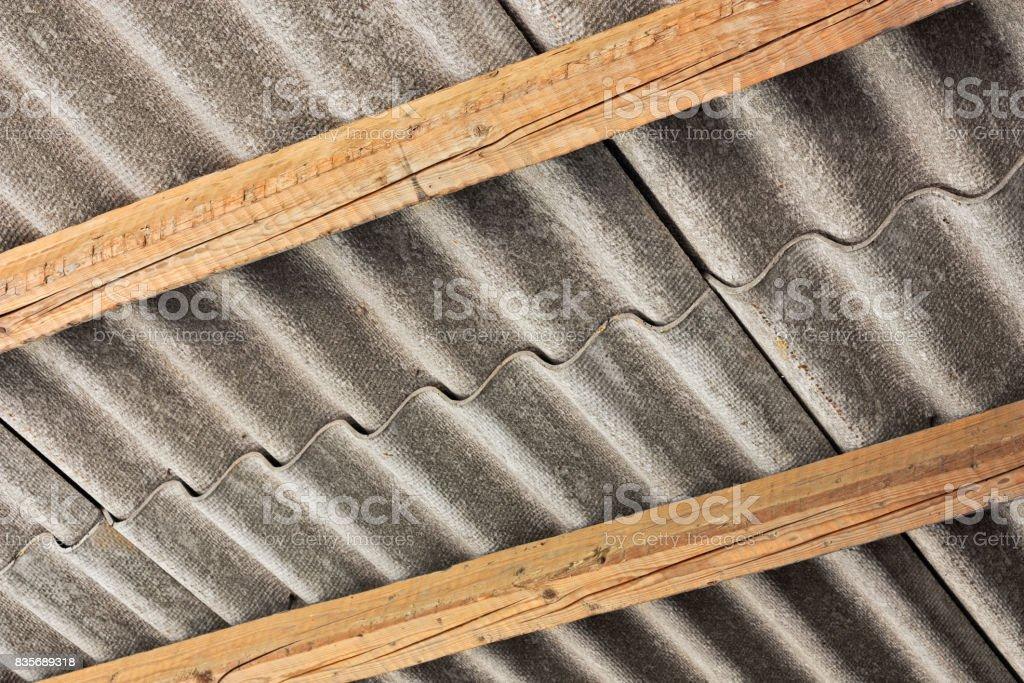 tampa de amianto de poluentes - foto de acervo