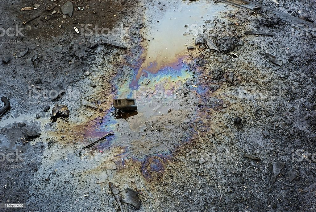 Polluted Oil-Spill stock photo