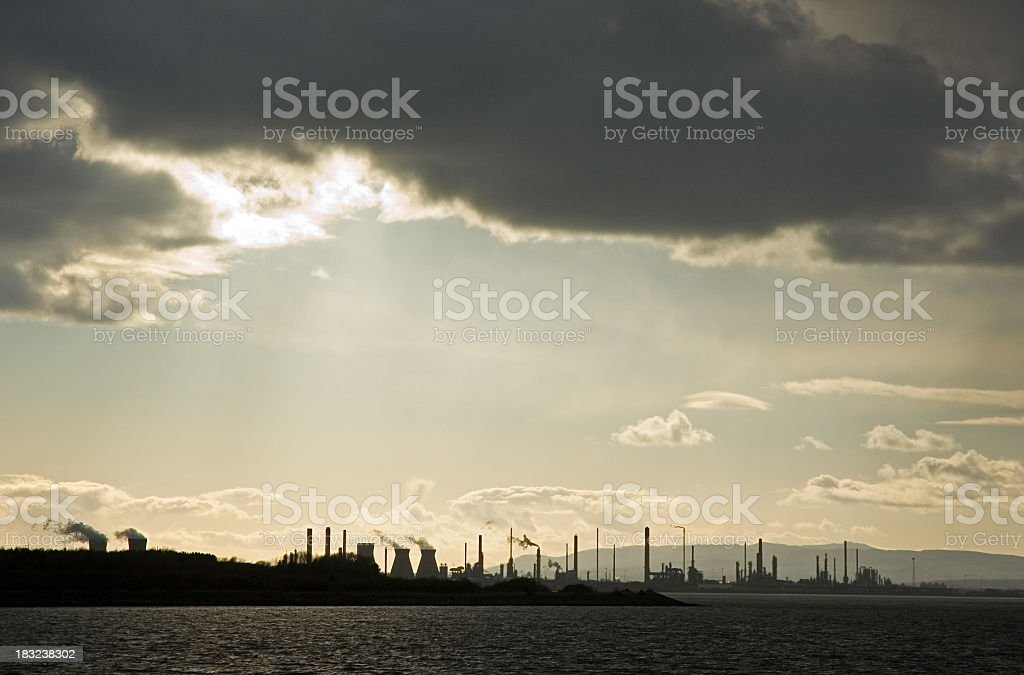 Polluting Refinery royalty-free stock photo