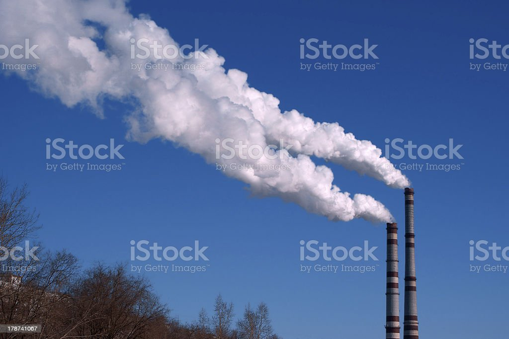 Pollution air royalty-free stock photo