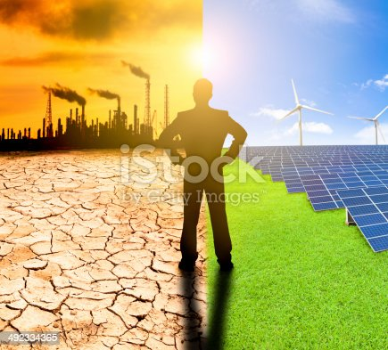 istock pollution and clean energy concept. 492334365