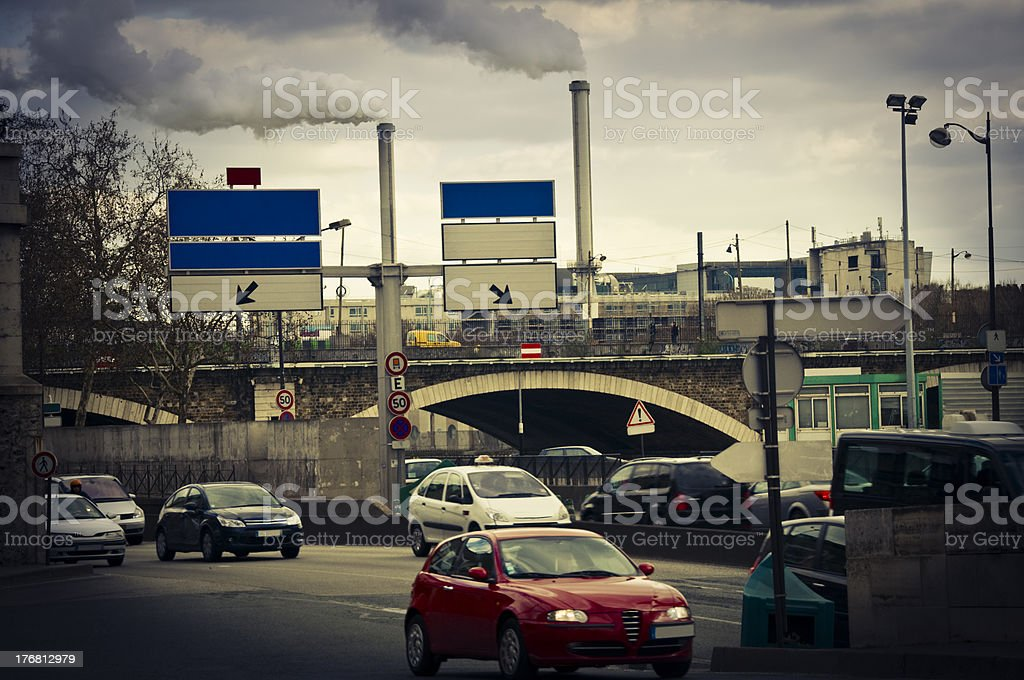 Pollution and traffic royalty-free stock photo
