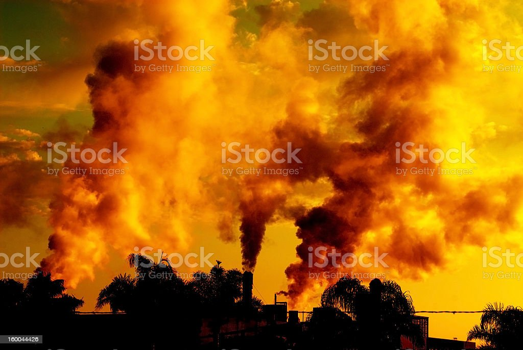 Pollution at Sunset royalty-free stock photo