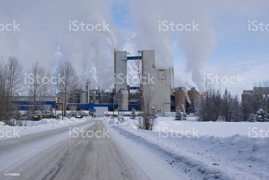 Pollution for profit royalty-free stock photo