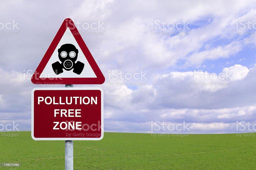 Pollution Free Zone stock photo