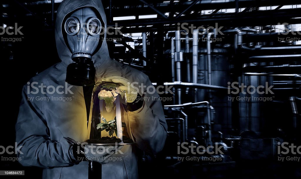 Pollution, Global warming, Green concept royalty-free stock photo