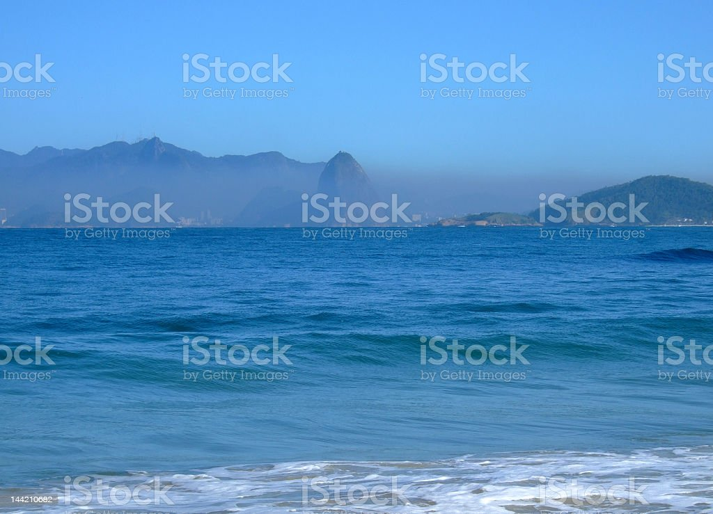 Pollution in Sugar Loaf, Rio de Janeiro royalty-free stock photo