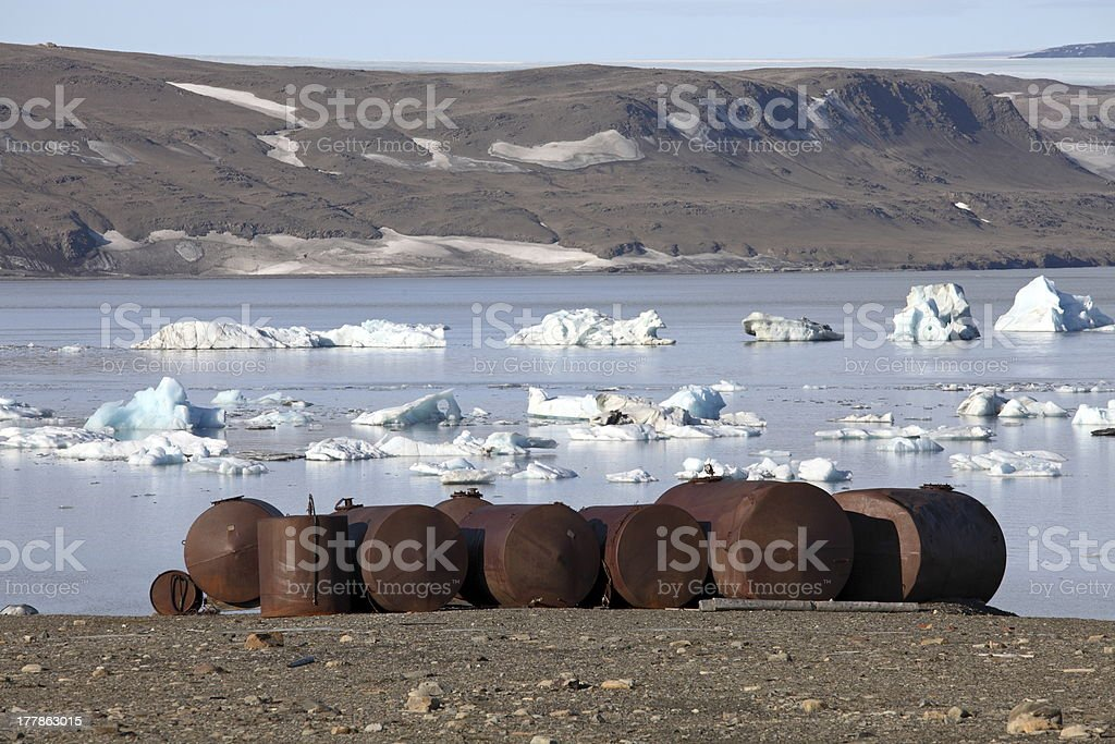 Pollution in the Arctic royalty-free stock photo