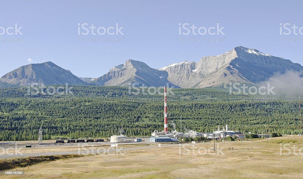Pollution in The Rockys royalty-free stock photo