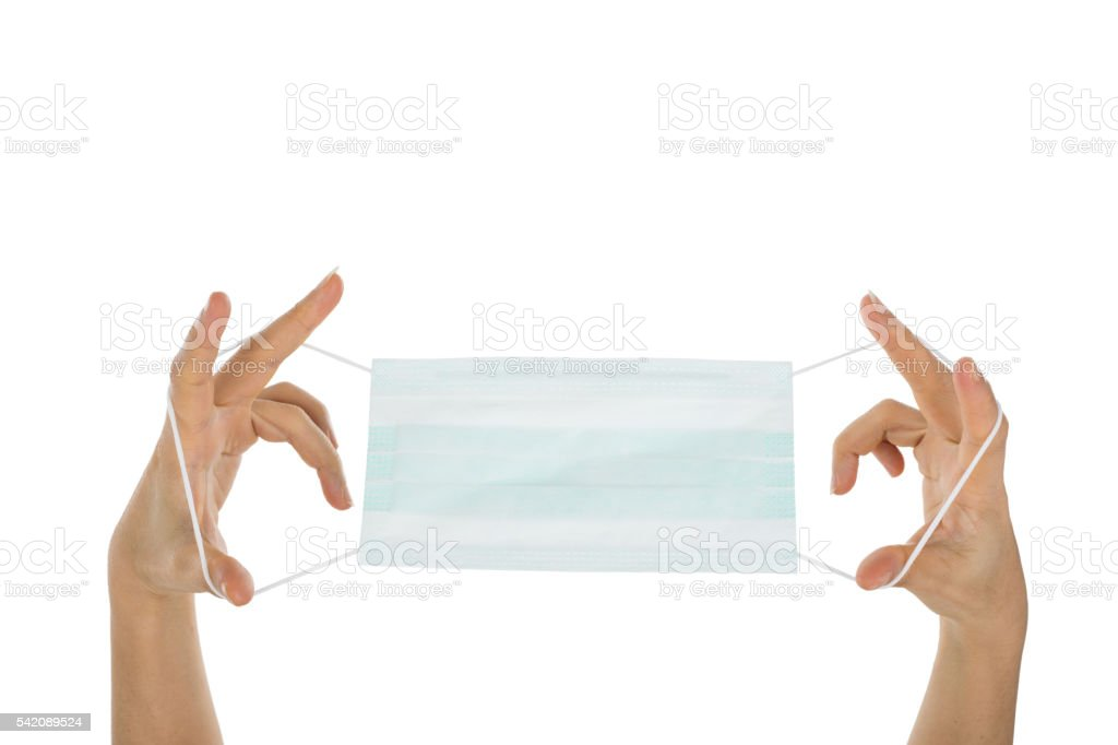 Pollution mask wearing for protection concept stock photo