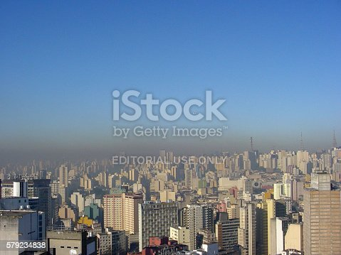 istock Pollution over São Paulo city in winter. 579234838