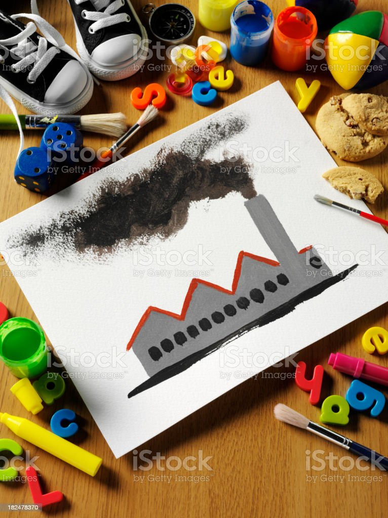 Pollution Painting royalty-free stock photo