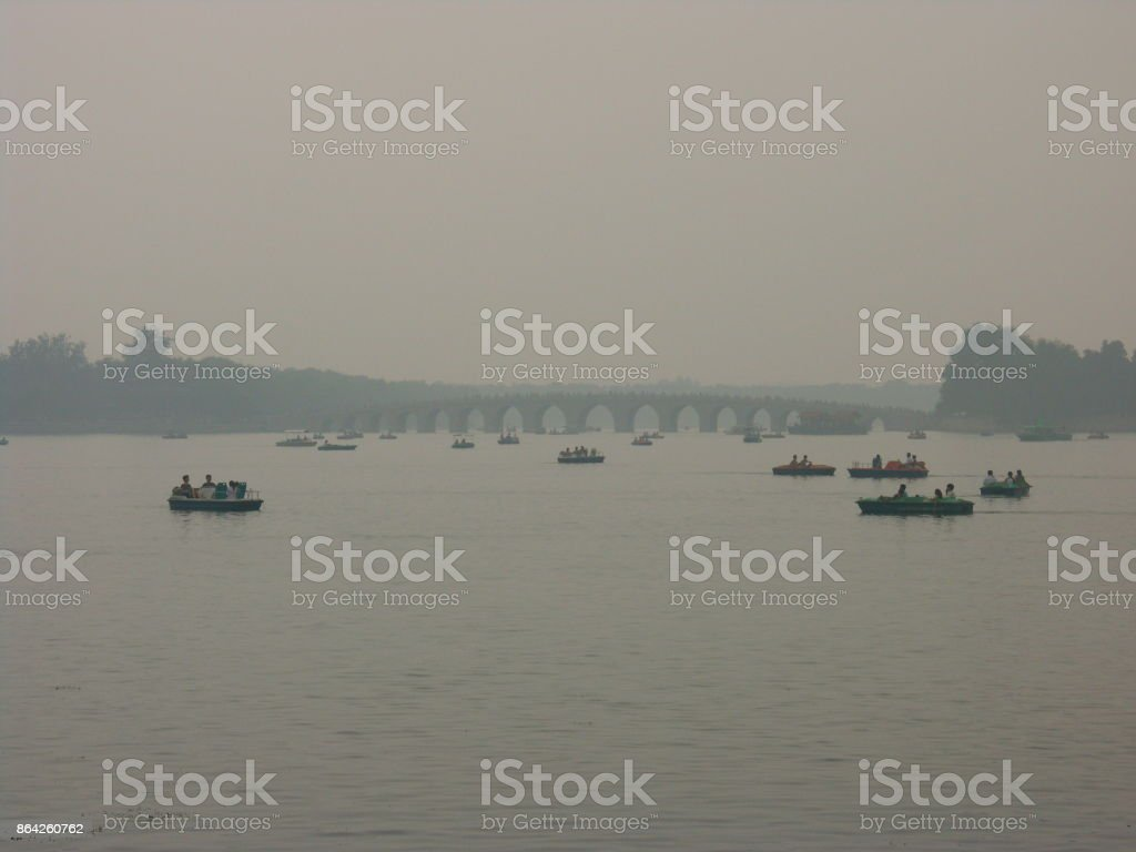 Pollution peak in Beihai garden in Beijing royalty-free stock photo