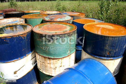 Abandoned steel drums.To view my other Oil Industry related images