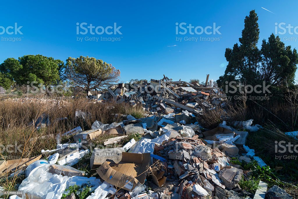 Pollution. stock photo