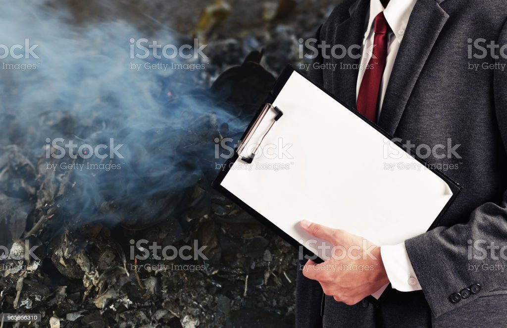 pollution report - Royalty-free Adult Stock Photo