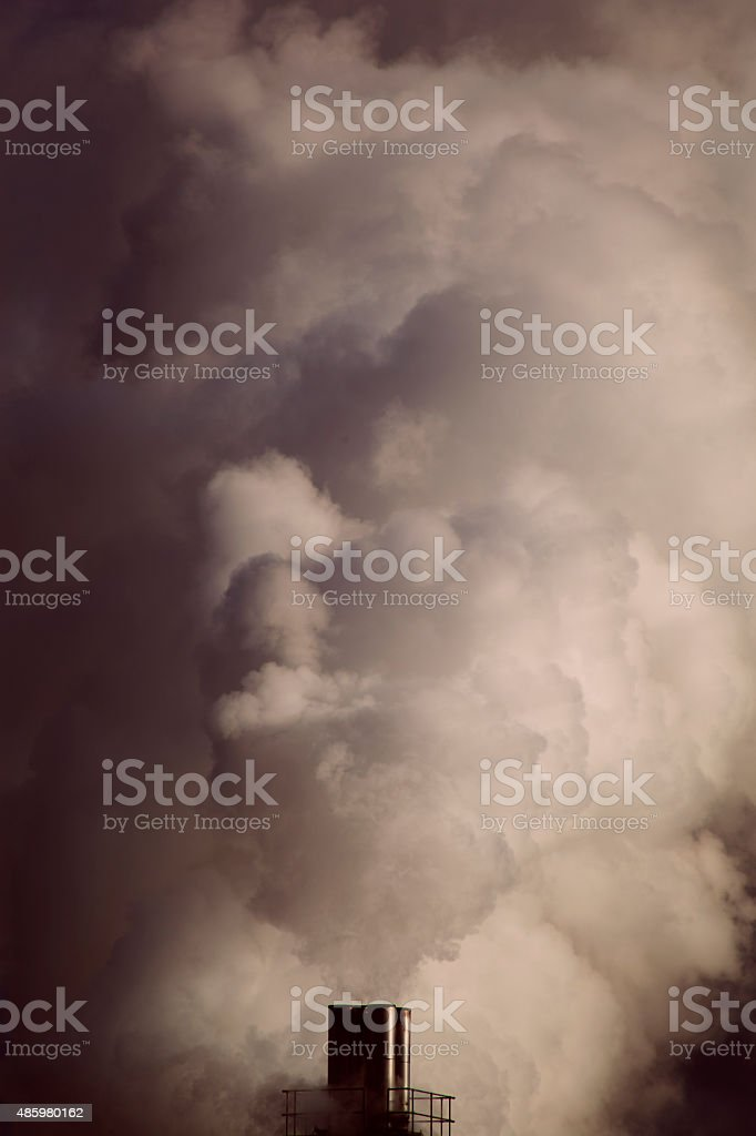 Pollution Smoke from Chimney stock photo