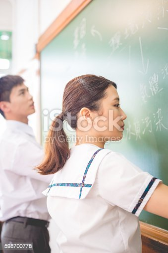 istock Pollution Theme Mind Map in Chinese, Hong Kong, Asia 598700778