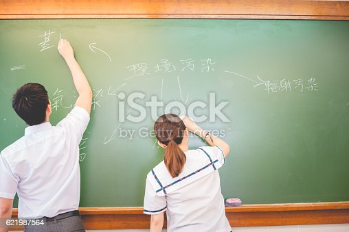 istock Pollution Theme Mind Map in Chinese, Hong Kong, Asia 621987564