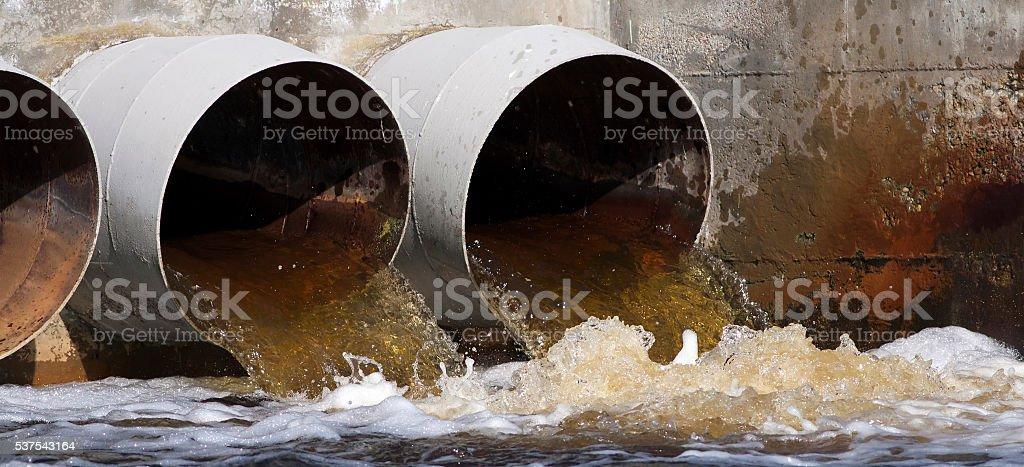 Contaminación sitio web bandera - foto de stock
