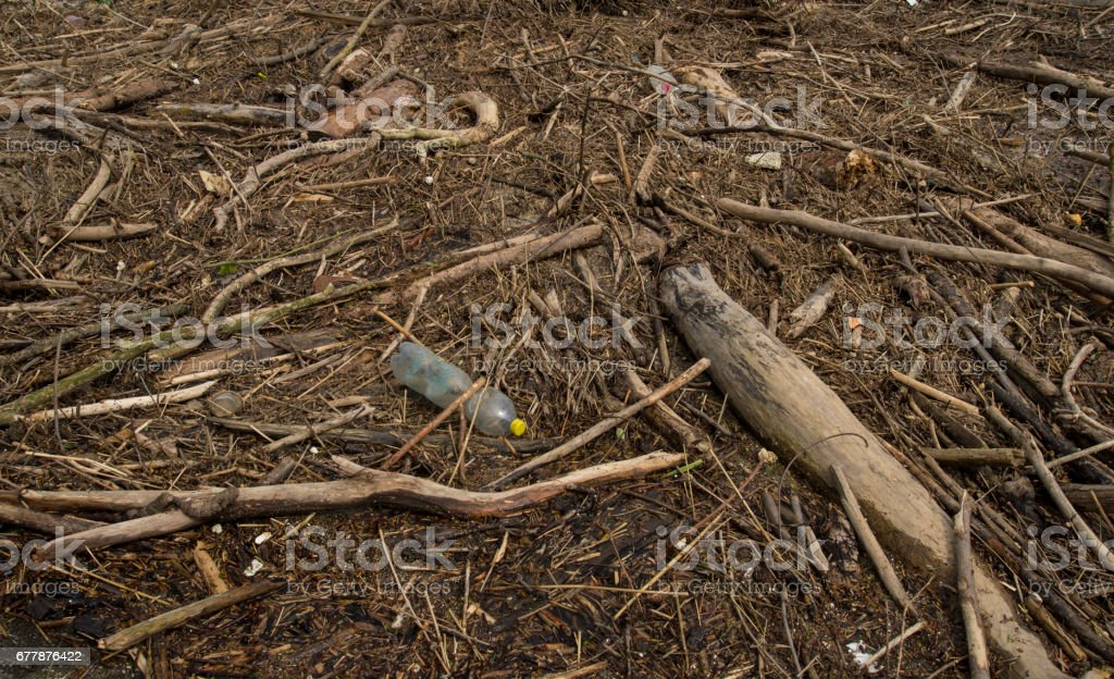 Pollution with plastic royalty-free stock photo