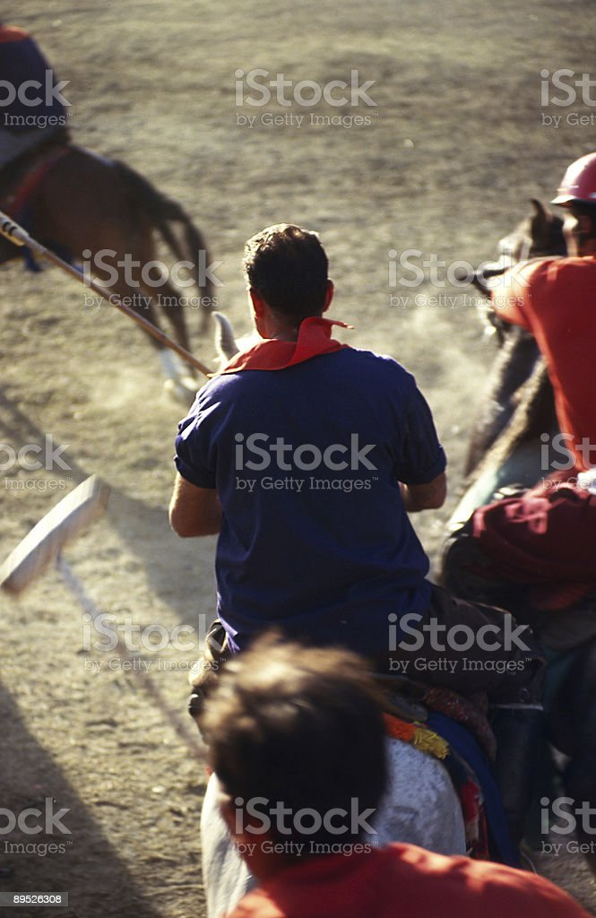 Polo and horseman in Pakistan royalty-free stock photo