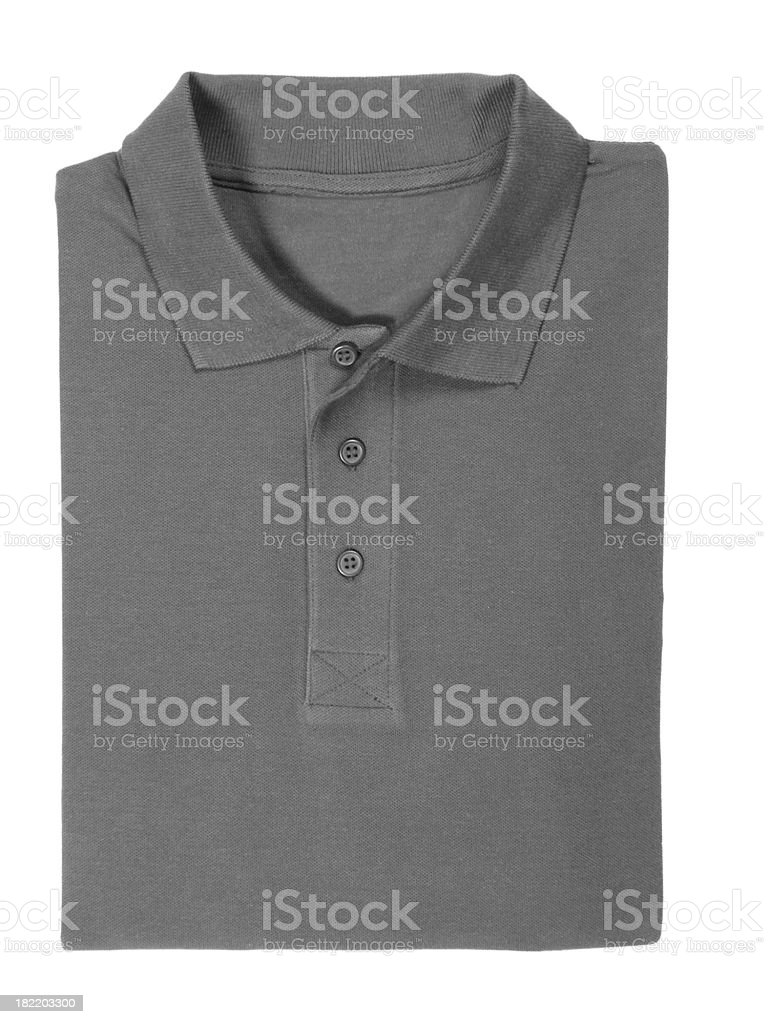 polo shirt folded - clipping path stock photo