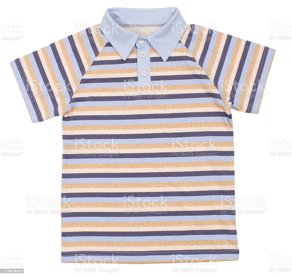 Polo shirt for children royalty-free stock photo