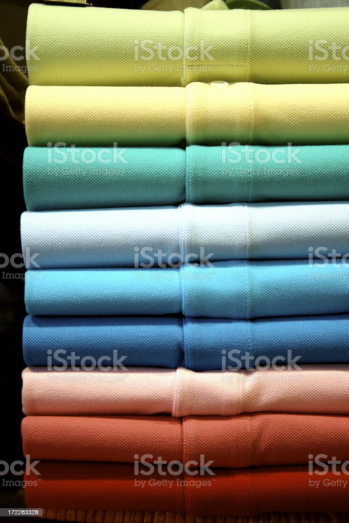 polo shirts (like a rainbow) stock photo