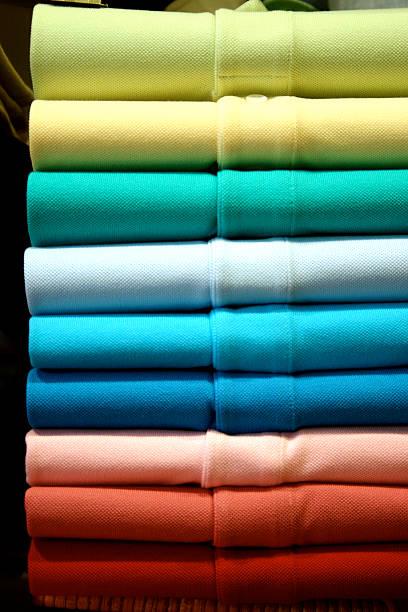polo shirts (like a rainbow) stock photo