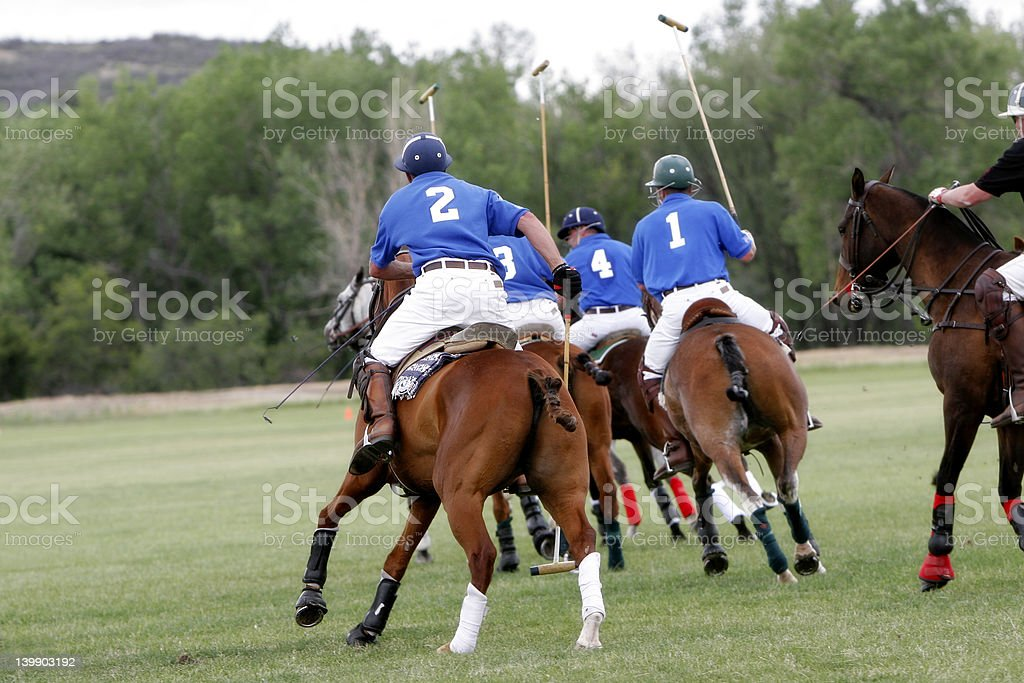 Polo Team Chasing stock photo