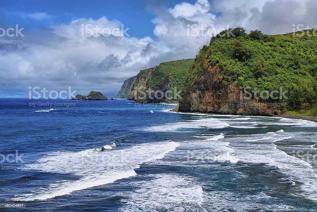 Pololu Valley view in Hawaii royalty-free stock photo