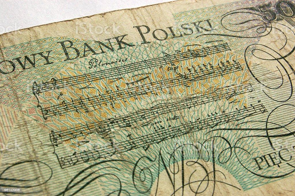 Polonaise banknote royalty-free stock photo