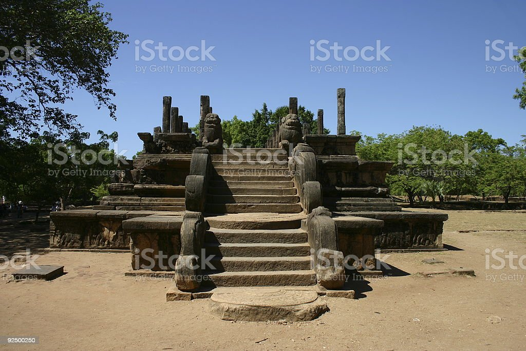 Polonnaruwa, Ancient Site royalty-free stock photo