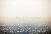 Pollution mixed together with on going bushfire smoke in Victoria, Melbourne