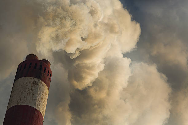 CO2 Polution stock photo